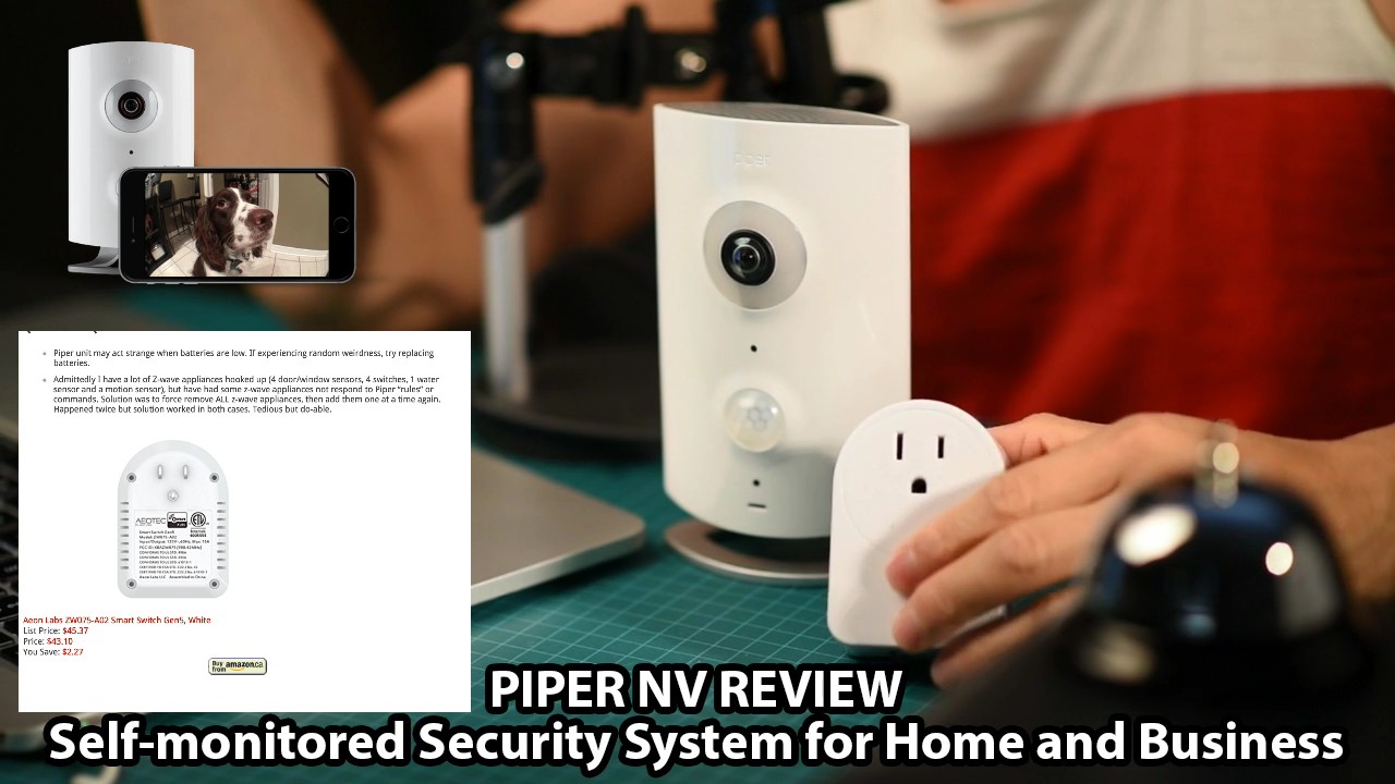 Piper Home Security >> Piper Nv Review Self Monitored Home And Business Security System