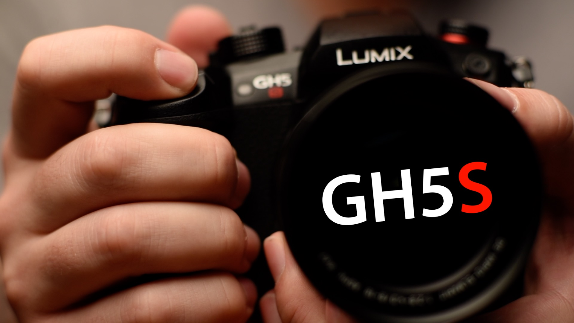 Handheld Panasonic GH5S Camera